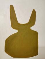 La défiguration végétale, 2020, huile sur papier, 50x56 cm