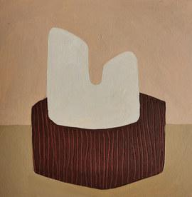 Paysages intérieurs 8, 2020, huile sur papier, 22x22 cm