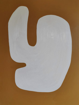 White bay, 2020, acrylique sur toile, 97