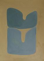 La figure du vivant 43, 2020, huile sur papier, 30x40 cm // COLLECTION PRIVEE
