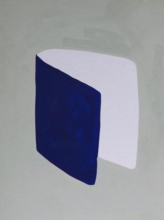 La figure du vivant 49, 2020, huile sur papier, 30x40 cm
