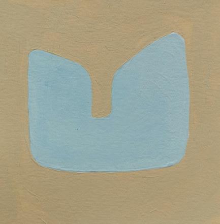 Le jardin fertile 117, 2020, huile sur papier, 11x11 cm