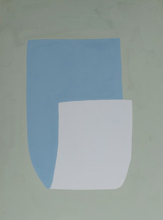 La figure du vivant 51, 2020, huile sur papier, 30x40 cm