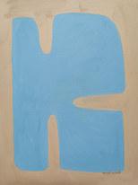 Blue bay, 2020, huile sur papier, 30x40 cm // COLLECTION PRIVÉE