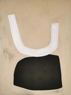 Luna petram (roche lunaire), 2020, huile sur toile, 97x130 cm COLLECTION PRIVEE
