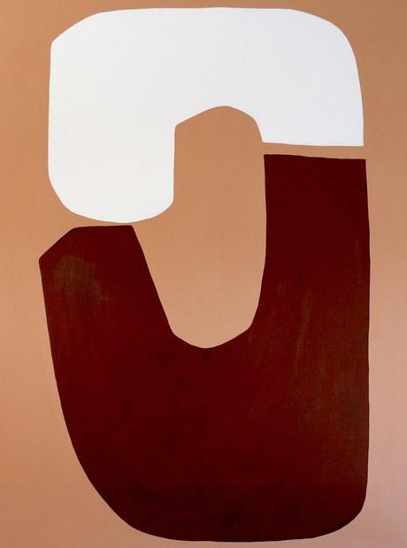 Two moons, 2019, acrylique sur toile, 97x130 cm