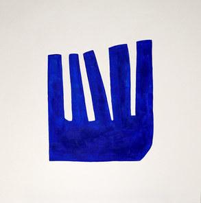 Blue matter, 2019, acrylique sur toile, 60x60 cm