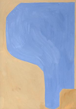 Rain surface 2, 2019, huile sur papier, 21x29,7 cm