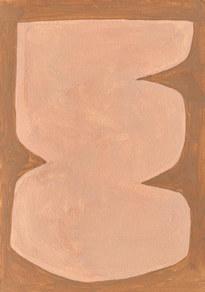 Le sacre de la nature 13, 2021, huile sur papier, 21x29,7 cm