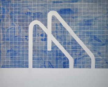 Blue pool, 2020, acrylique sur toile, 81