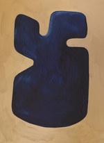 La figure du vivant 44, 2020, huile sur papier, 30x40 cm // COLLECTION PRIVEE