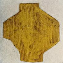Le jardin fertile 138, 2021, huile sur papier, 11x11 cm