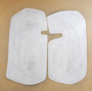 L'amour germé, 2020, huile sur toile, 100x100 cm