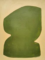 Eclipse verte, 2020, huile sur papier, 30x40 cm