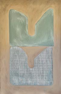 L'âme dans l'eau, 2021, huile sur toile, 130x195cm