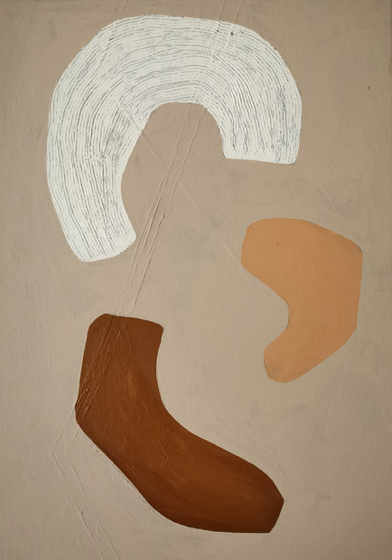 Lunes dansantes, 2020, huile sur toile, 33x46 cm
