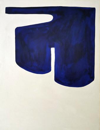 La dynamique de l'eau, 2020, huile sur papier, 50x65 cm