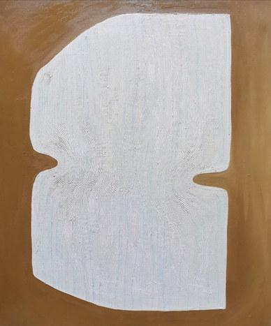 Le palais de nacre, 2020, huile sur toile, 46x55 cm