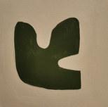 Le jardin fertile 16, 2020, huile sur papier, 11x11cm