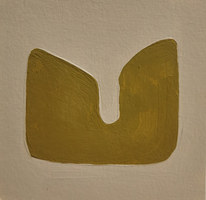 Le jardin fertile 4, 2020, huile sur papier, 11x11cm