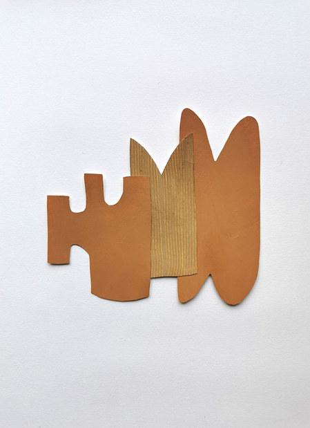 La danse inachevée 2, 2021, huile sur papier, 19x17 cm