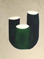 La figure du vivant 76, 2020, huile sur papier, 30x40 cm