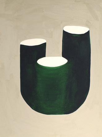 La figure du vivant 76, 2020, huile sur papier, 30x40 cm // COLLECTION PRIVEE