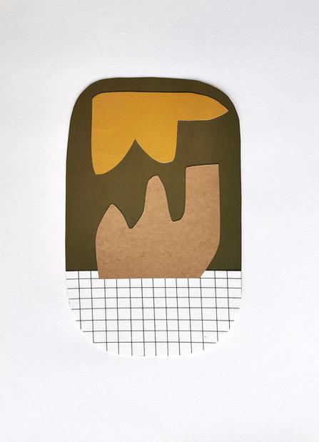 La danse inachevée 8, 2021, huile sur papier, 16x25 cm