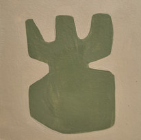 Le jardin fertile 9, 2020, huile sur papier, 11x11 cm