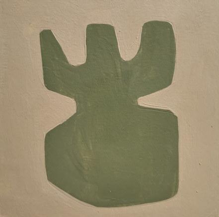 Le jardin fertile 9, 2020, huile sur papier, 11x11 cm // COLLECTION PRIVEE