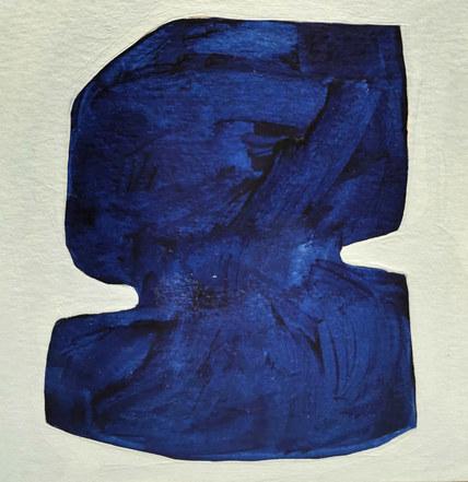 Le jardin fertile 65, 2020, huile sur papier, 11x11 cm