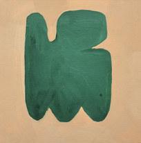 Le jardin fertile 84, 2020, huile sur papier, 11x11 cm