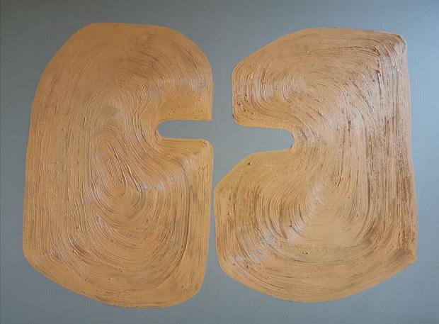 L'amour naissant, 2020, huile sur toile, 130x97 cm