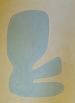 La figure du vivant 41, 2020, huile sur papier, 30x40 cm // COLLECTION PRIVEE