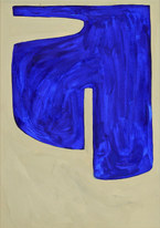 Storm surface 2, 2019, huile sur papier, 21x29,7 cm