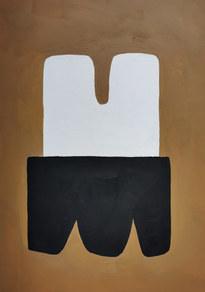Le sacre de la nature 6, 2020, huile sur papier, 21x29,7 cm // COLLECTION PRIVEE