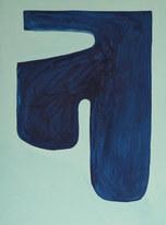 La figure du vivant 62, 2020, huile sur papier, 30x40 cm // COLLECTION PRIVÉE