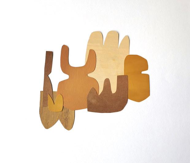 La danse inachevée 15, 2021, huile sur papier, 30x27 cm