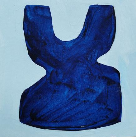 Le jardin fertile 113, 2020, huile sur papier, 11x11 cm