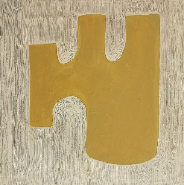 Micro forêt jaune, 2020, huile sur toile, 30x30 cm  COLLECTOIN PRIVÉE