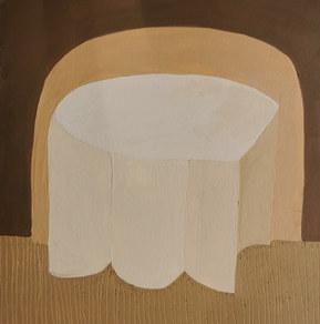Paysages intérieurs 13, 2020, huile sur papier, 22x22 cm