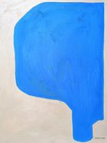 Azur, 2020, huile sur papier, 30x40cm // COLLECTION PRIVÉE