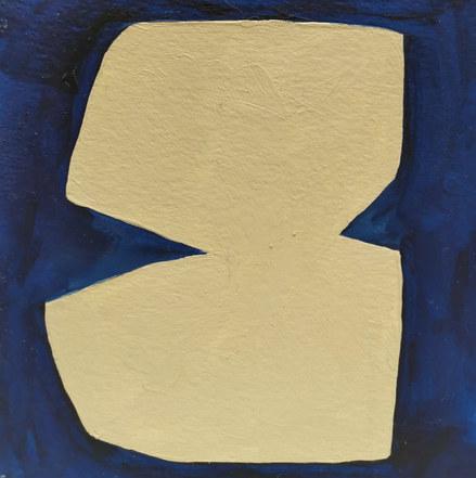 Le jardin fertile 56, 2020, huile sur papier, 11x11 cm