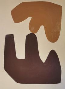 L'amour au jardin, 2020, huile sur toile, 97x130 cm