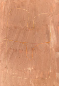 Le sacre de la nature 15, 2021, huile sur papier, 21x29,7 cm