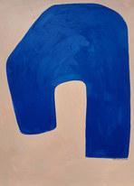 Outremer, 2020, huile sur papier, 30x40 cm