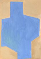 Rain surface 1, 2019, huile sur papier, 21x29,7 cm // COLLECTION PRIVÉE
