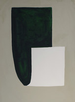 La figure du vivant 47, 2020, huile sur papier, 30x40 cm