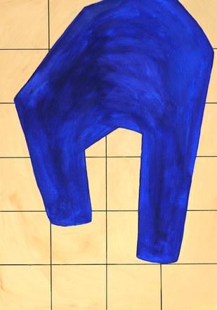 Wave surface 2, 2019, huile sur papier, 21x29,7 cm