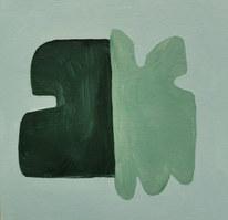 Le jardin fertile 78, 2020, huile sur papier, 11x11 cm